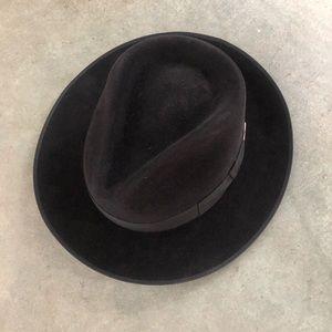 Pierre Cardin Black Furfelt Fedora Hat Men Size L